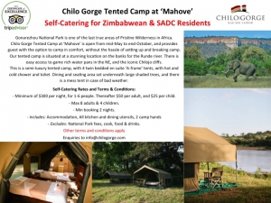 Chilo Tented Camp : Self Catering Special