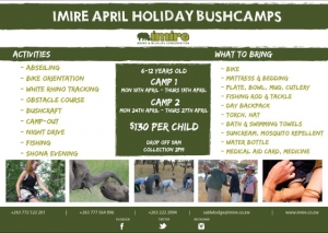 Imire April Holiday Bushcamp