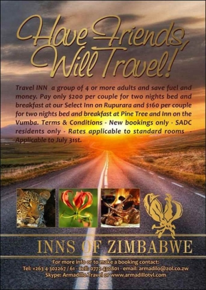 Inns of Zimbabwe Special - Have Friends, Will Travel!