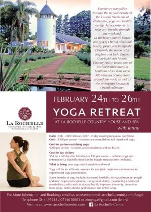La Rochelle Yoga Retreat