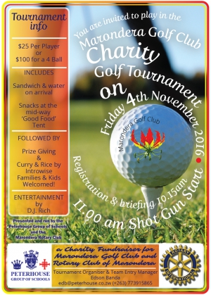 Marondera Golf Club Charity Tournament