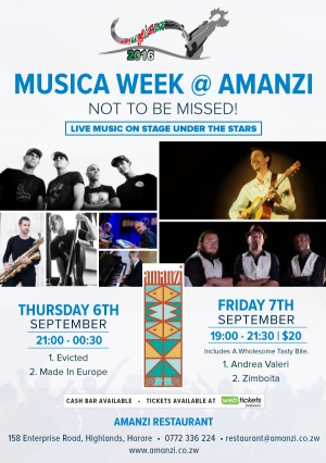 Musica Festival - Music under The Stars on 6th & 7th October 2016