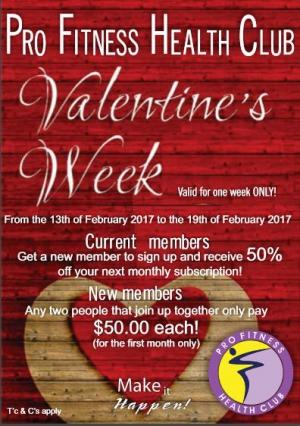 Pro Fitness Health Club Valentines Week