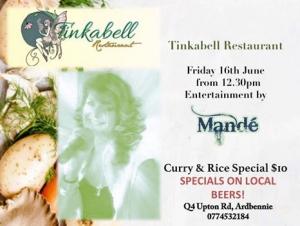 Tinkerbel Restaurant Event