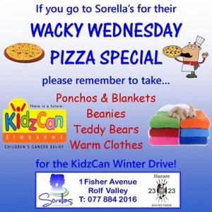 Wacky Wednesday Pizza Special