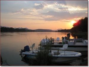 Renaud Boat Sunset